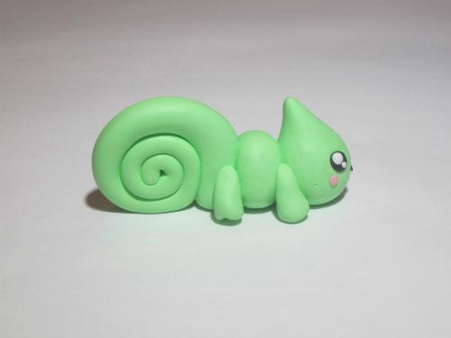 Ящерка из полимерной глины своими руками пошаговое фото 11